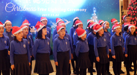 Primary Choir Sing at Sheraton Christmas Tree Lighting Ceremony