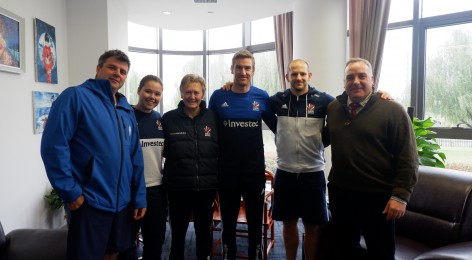 Headmaster meets the Great Britain Hockey Management team